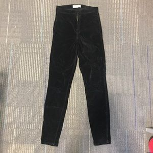 High-Waisted Velvet AA Jeans